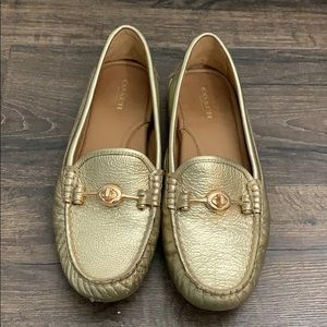 Coach Arlene loafers in gold